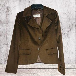 MAXMARA Brown Suit Jacket 100% Camel Hair Made in